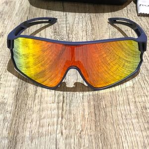Other - Blue sunglasses with colorful lense